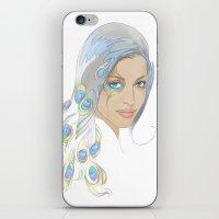 Peacock Rai iPhone & iPod Skin
