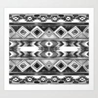 Southwest Pattern- Black… Art Print