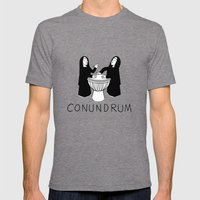 Conundrum Mens Fitted Tee Tri-Grey SMALL