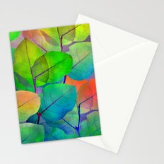 Translucent Leaves Stationery Cards