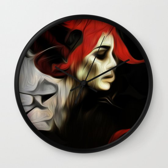portrait of sadness Wall Clock