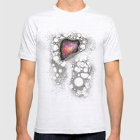 Space Cluster Mens Fitted Tee Ash Grey SMALL