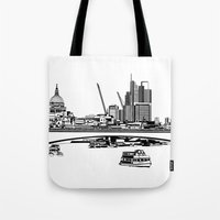 London Black And White Tote Bag