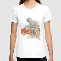 Godzilla Vs. The Brookly… Womens Fitted Tee White SMALL
