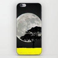 Lone Tree And Moon. iPhone & iPod Skin