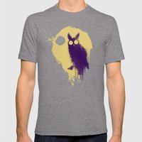Owl Mens Fitted Tee Tri-Grey SMALL