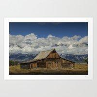 T.A. Moulton Barn On Mor… Art Print