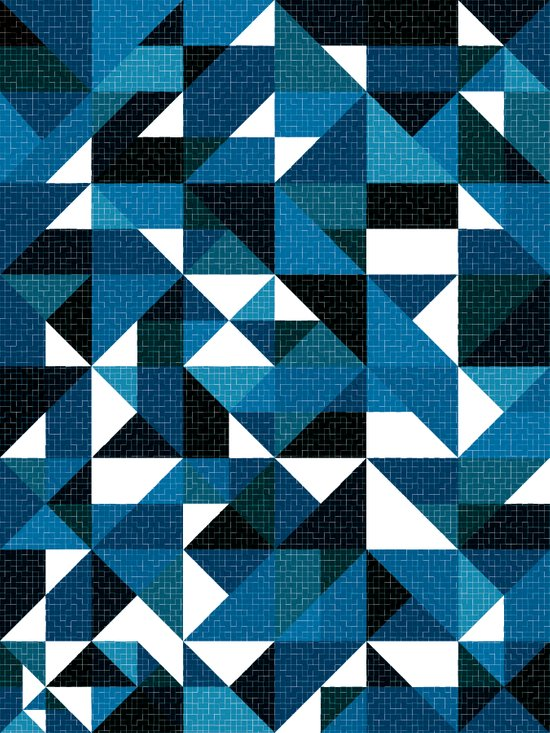 Blue For You / Pattern #8 Art Print