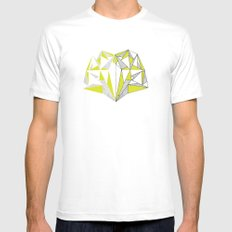 Facets Reflect Mens Fitted Tee White SMALL