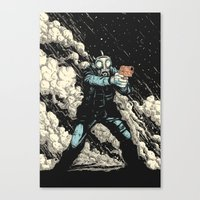 Attack! Canvas Print