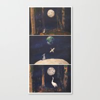 The Moon Rabbit Canvas Print