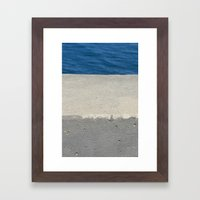 Abstract - Cement and Lake Framed Art Print