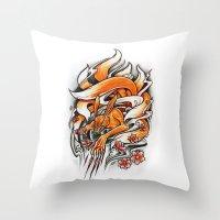 Angry Kyuubi Throw Pillow