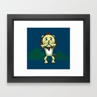 Cowardly Lion Framed Art Print
