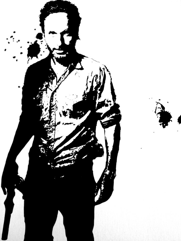 Rick Grimes Art Print By Black And White Store Society6