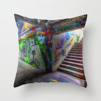 Leake Street London Graf… Throw Pillow