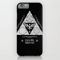 iPhone & iPod Case featuring Legend of Zelda Kingdom of Hyrule Crest Letterpress Vector Art by Barrett Biggers