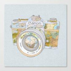 Travel Canon Canvas Print