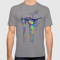 Technicolor Vision Mens Fitted Tee Tri-Grey SMALL