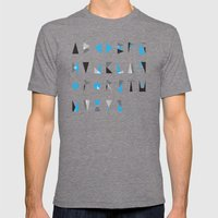 geo type Mens Fitted Tee Tri-Grey SMALL