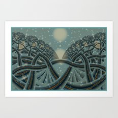 Celtic Winter Forest Art Print