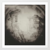 In These Final Hours Love Burns Strong (B&W) Art Print