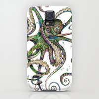 Galaxy S5 Cases featuring Octopsychedelia by TAOJB