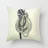 Pearly Lacyness Throw Pillow