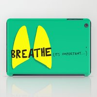Breathe. A PSA for stressed creatives. iPad Case