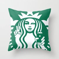 Selfie - 'Starbucks ICON… Throw Pillow