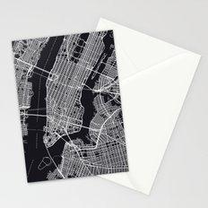 NEW YORK CITY MAP Stationery Cards