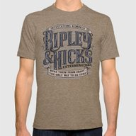 Ripley And Hicks Extermi… Mens Fitted Tee Tri-Coffee SMALL