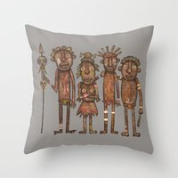 The Cannibals Throw Pillow