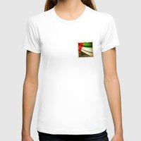 Grunge Sticker Of United… Womens Fitted Tee White SMALL