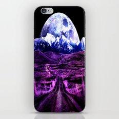 Highway to Eternity (moon mountain) Fuchsia iPhone & iPod Skin
