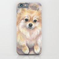 Pomeranian Watercolor Pom Painting iPhone 6 Slim Case