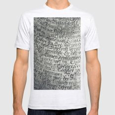 Ancient Writing Mens Fitted Tee Ash Grey SMALL