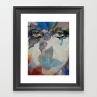 Gothic Butterflies Framed Art Print