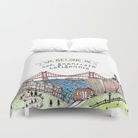 We Belong in San Francisco Duvet Cover