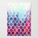 Moroccan Meltdown - pink, purple & aqua painted tiles Canvas Print