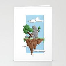 Pixel Landscape : Flying Island Stationery Cards