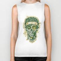 Brainz Zombie Print Biker Tank