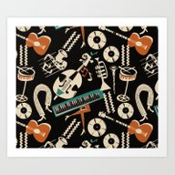Jazz Rhythm (negative) Art Print