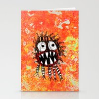 monster Stationery Cards featuring MONSTER by Matthew White