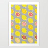 Lemony Art Print