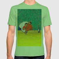 Sweet Merlot Mens Fitted Tee Grass SMALL