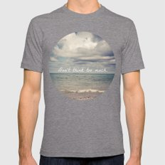 Flow With Life Mens Fitted Tee Tri-Grey SMALL
