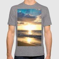 Po'olenalena Beach Sunset Makena Maui Hawaii Mens Fitted Tee Tri-Grey SMALL