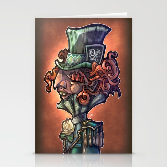 Mad Hatter Stationery Card