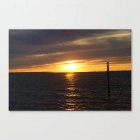 Sunset In Montauk 2 Canvas Print